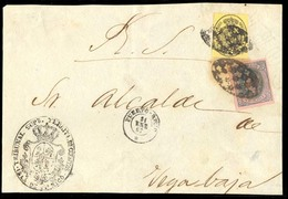PUERTO RICO. 1867 (21 Enero). Esp. Ed. 35º, Ant. Ed. 10º. San Juan A Vega Baja. Frente Oficial Con Franqueo Mixto De SAL - Puerto Rico