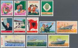 """China - Volksrepublik: 1971/72, 3 Complete Sets, Including """"Afro-Asian Friendship"""" Table Tennis Tour - 1949 - ... République Populaire"""