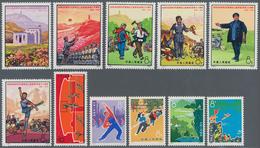 """China - Volksrepublik: 1972, 6 Complete Sets, Including 30th Anniv Of Publication Of """"Yenan Forum's - 1949 - ... République Populaire"""
