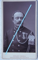 Photo ABL Officier Armée Belge Circa 1890 Belgische Leger Militaria Photographe GUERUZET Frères Bruxelles Uniforme - Fotos
