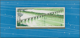 China - Volksrepublik: 1978, Highway Bridges S/s (T31M), 2 Copies, MNH And First Day CTO Used (Miche - 1949 - ... République Populaire