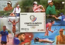 Lote PY40, Paraguay, 2016, HF, SS, Upaep, Olimpiadas, Olympics, Golf, Swimming, Athletics, Tennis - Paraguay