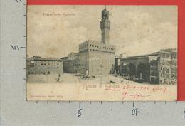 CARTOLINA VG ITALIA - Ricordo Di FIRENZE - Piazza Della Signoria - 9 X 14 - 1900 - Firenze (Florence)