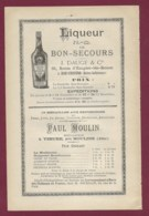 160120A - PUBLICITE XIXème - ALCOOL - Liqueur ND De BON SECOURS J DAUGE à Bon Secours Paul MOULIN à YZEURE Distillateur - Publicités