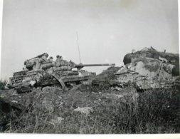 GRANDE PHOTOGRAPHIE ANCIENNE TANK DESTROYER LIGNE MAGINOT TANKISTE CHAR D'ASSAUT GUERRE MILITAIRE - Guerra, Militares