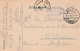 POW Kaart Soltau Naar La Louviere 1916. - WW I