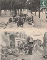 2 CPA:BRY SUR MARNE (94) SOLDAT CADAVRES AU SOL LENDEMAIN BATAILLE DE CHAMPIGNY,ENFANTS ÉCOLE MATERNELLE..ÉCRITES - Bry Sur Marne