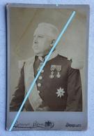 Photo ABL Officier Supérieur Armée Belge Circa 1875 Photograph GERUZET Frères Bruxelle Militaria  Uniforme - Anciennes (Av. 1900)