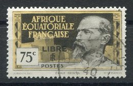 RC 15294 AFRIQUE EQUATORIALE AEF N° 112 SURCHARGE LIBRE COTE 72€ OBLITÉRÉ TB - A.E.F. (1936-1958)