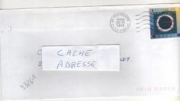"""Timbre , Stamp Yvert N° 3261 """" éclipse De Soleil """" Sur Lettre , Cover , Mail Du 26/10/1999 - France"""