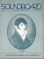 Revue Guitare Soundboard Guitar Fondation Of America N° 3 - 1989 - Mauro Guiliani - Art