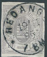 LUXEMBOURG - 1865-73 - YT N°17 - 10 Centimes Violet-gris - Non Dentelé - Oblitéré - TTB Etat - 1859-1880 Wapenschild