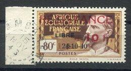 RC 15297 AFRIQUE EQUATORIALE AEF N° 167 SURCHARGE RESISTANCE + LIBRE COTE 32€ OBLITÉRÉ TB - A.E.F. (1936-1958)