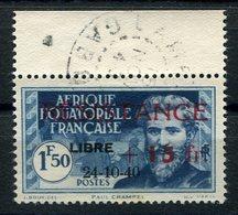 RC 15298 AFRIQUE EQUATORIALE AEF N° 168 SURCHARGE RESISTANCE + LIBRE COTE 32€ OBLITÉRÉ TB - A.E.F. (1936-1958)