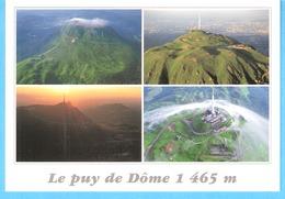 """Le Puy De Dôme-1465m Ancien Volcan D'Auvergne-Nuages """"en Voile De Mariée""""-cachet De Eygurande, Corrèze-2004 - Clermont Ferrand"""