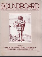Revue Guitare Soundboard Guitar Fondation Of America N° 4 - 1992 - - Art