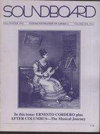 Revue Guitare Soundboard Guitar Fondation Of America N° 3 - 1992 - Ernesto Cordero - Art
