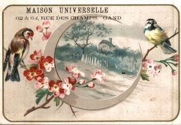CHROMO MAISON UNIVERSELLE GAND  PINSON MESANGE ET FLEURS... - Trade Cards