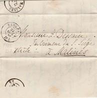 Brief Geschreven Te Darlington/Engeland ?? 1869 Via Brugge Naar Mechelen. - Bélgica