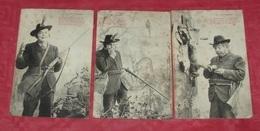 Série La Chasse : Lot De 7 Cartes Postales : Illustrateurs Bergeret ::: Gibiers - Sports - Fusils - Portraits ------ 402 - Chasse