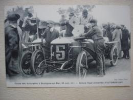 62 BOULOGNE SUR MER Coupe Des Voiturettes 25 Juin 1911 Course Automobile Gros Plan Animé - Boulogne Sur Mer