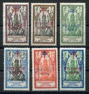 RC 15307 INDE FR N° 177 / 182 SURCHARGE FRANCE LIBRE SÉRIE COMPLÈTE COTE 11€ NEUF * TB - Unused Stamps