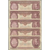 TWN - HUNGARY 174a - 100 Forint 15.1.1992 DEALERS LOT X 5 - Various Series F/VF - Hongrie