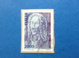1986 ITALIA PERGOLESI MUSICISTA FRANCOBOLLO USATO ITALY STAMP USED - 6. 1946-.. Republic