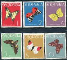 ALBANIA 1963 Butterflies MNH / **   Michel 773-78 - Albania