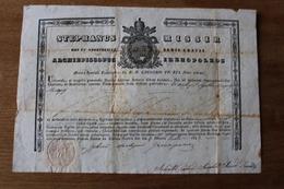 Diplom Religion  1843 Avec Blason Grégoire XVI Cachet - Documentos Históricos