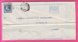 DECLARATION DE SINISTRE DE GRELE DOULEVANT GC 1341 SUR NAPOLEON 22 INDICE 5 HAUTE MARNE ADRESSEE A LA VERSAILLAISE PARIS - Postmark Collection (Covers)