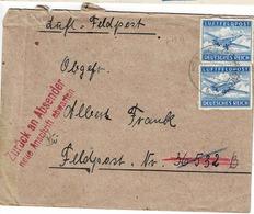 TP N°FM 1 En 2 Ex Sur  Enveloppe Du Secteur 36532 B Avec Cachet Retour à L'envoyeur - Allemagne