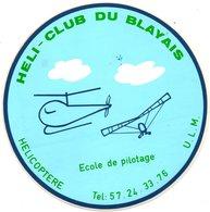 Autocollant HELI CLUB DU BLAYAIS - Aufkleber