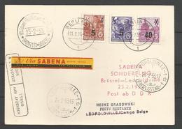 Aérophilatélie - DDR - Carte 1955 - Sonderflug Sabena Bruxelles-Leopoldville - Berlin - [6] Oost-Duitsland