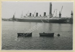 """(Bateaux) Le Paquebot """"Ile-de-France"""" Au Havre En 1938 . - Bateaux"""