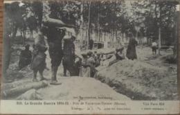 CPA, La Grande Guerre De 1914-15, Près Ville Sur Tourbe (Marne,51), Transport De Bombes Dans Les Tranchées., écrite 1917 - War 1914-18