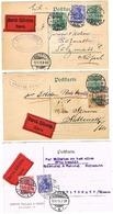 3 Cartes Postales DURCH EILBOTEN EXPRES Colmar Muller Walter Wallach 1915 1916 30 Pfennig - Colmar