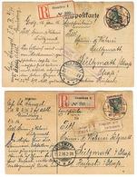 GRAUDENZ 2 RECOMMANDE 1916 25 PFENNIG Censure Colmar - Pologne