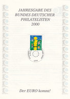 Jahresgabe Des BDPh 2000, Jg.22, Mit BRD 2113, Europa CEPT: Kinder - [7] République Fédérale