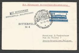 DDR - Lettre 1957 - Botenpost Bitterfeld-Holzweissig - Locomotive - [6] Oost-Duitsland