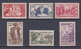 EXPO 1937 GUYANE N°  143 A 148  NEUF** Valeur 15.60 Euros - Französisch-Guayana (1886-1949)