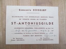 Serskamp St Antoniusgilde Bijstand Tegen Sterven Paarden 1949 - Programma's