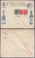 Cuba 1928 - Entier Postal Sur Lettre Vers Barsac-France De Santiago - Publicité: Vin, Champagne.......... (DD) DC6210 - Briefe U. Dokumente