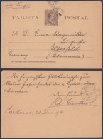 Cuba 1894 - Entier Postal Sur Carte Postale Vers Elberfeld-Allemagne De La Habana.......... (DD) DC6215 - Cuba