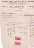 59-M.Mille & Havez  Imprimerie, Papiers, Cartons & Sacs..Croix..(Nord)..1947 - Imprimerie & Papeterie