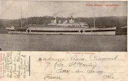 "Cpa Militaria-navire Hopital ""lafayette"" - Guerre 1914-18"