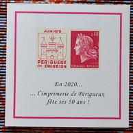 France 2020 - Carte Des Voeux 2020 Phil@poste à Tirage Limité - Documents Of Postal Services