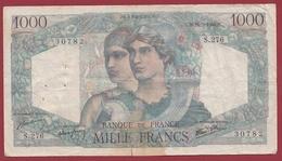 """1000 Francs """"Minerve Et Hercule"""" Du 16/05/1946.M----VG/TTB---ALPH .S.276 - 1871-1952 Antichi Franchi Circolanti Nel XX Secolo"""