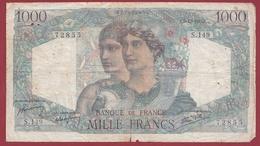"1000 Francs ""Minerve Et Hercule"" Du 06/12/1945.E----VG/TTB---ALPH .S.149 - 1871-1952 Antichi Franchi Circolanti Nel XX Secolo"