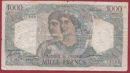 "1000 Francs ""Minerve Et Hercule"" Du 02/12/1948.J----VG/TTB---ALPH .D.501 - 1871-1952 Antichi Franchi Circolanti Nel XX Secolo"